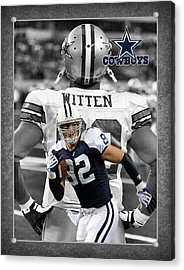 Jason Witten Cowboys Acrylic Print by Joe Hamilton