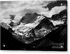 Jasper - Mt. Athabasca Monochrome Acrylic Print