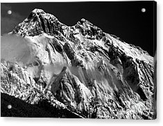 Jasper - Snow Packed Mountain In Spring Acrylic Print by Terry Elniski