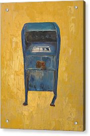 Acrylic Print featuring the painting Jaunty Mailbox by Lindsay Frost