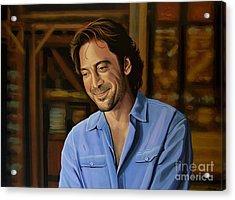 Javier Bardem Painting Acrylic Print