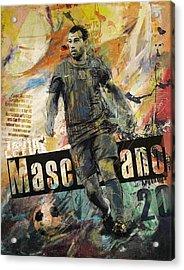 Javier Mascherano - B Acrylic Print by Corporate Art Task Force