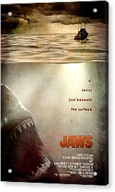 Jaws Custom Poster Acrylic Print by Jeff Bell