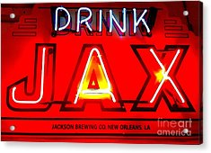 Jax Beer Of New Orleans Acrylic Print by Saundra Myles