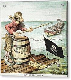Jay Gould Cartoon, 1885 Acrylic Print