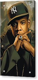 Jay-z Artwork 2 Acrylic Print by Sheraz A