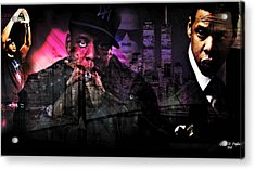 Jay Z Acrylic Print by Lynda Payton