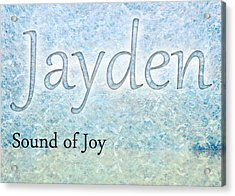 Jayden - Sound Of Joy Acrylic Print by Christopher Gaston