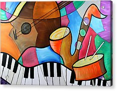 Jazz Band Inspired By Eric Waugh Acrylic Print