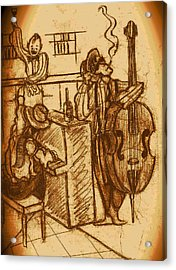 Jazz Bar 1940's Acrylic Print by Jazzboy