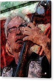 Jazz Bass Man Acrylic Print