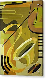 Jazz Acrylic Print by Carolyn Hubbard-Ford