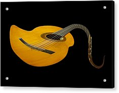 Jazz Guitar 2 Acrylic Print by Debra and Dave Vanderlaan
