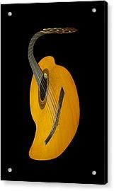 Jazz Guitar Acrylic Print by Debra and Dave Vanderlaan