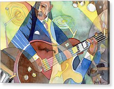 Jazz Guitarist Acrylic Print