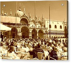 Jazz In Piazza San Marco Acrylic Print