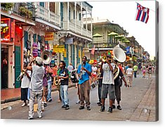 Jazz It Up On The New Orleans Summer Streets Acrylic Print