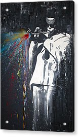 Jazz Man Acrylic Print by Aaron Stansberry