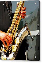 Jazz Man Acrylic Print by John Freidenberg