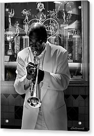 Jazz Man Acrylic Print by Larry Butterworth