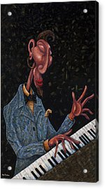 Jazz Man Acrylic Print by Ned Shuchter