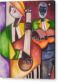 Acrylic Print featuring the painting Jazz Men by Emery Franklin