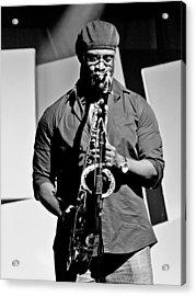 Jazz Musician Acrylic Print by Achmad Bachtiar