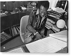 Jazz Musician Miles Davis Composing Acrylic Print by Mark Patiky