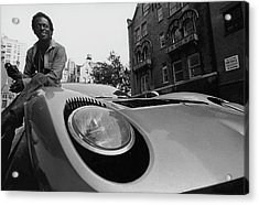 Jazz Musician Miles Davis Sitting On The Hood Acrylic Print