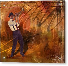 Jazz Nrg Acrylic Print by Bedros Awak