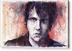 Jazz Rock John Mayer Acrylic Print by Yuriy  Shevchuk