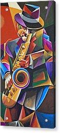 Jazz Sax Acrylic Print by Bob Gregory