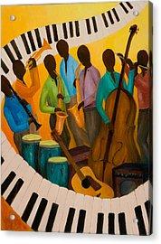 Jazz Septet Acrylic Print by Larry Martin