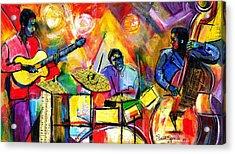 Jazz Trio Acrylic Print by Everett Spruill