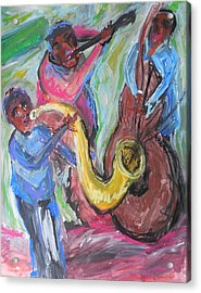 Jazz Trio Preservation Hall Acrylic Print by Made by Marley