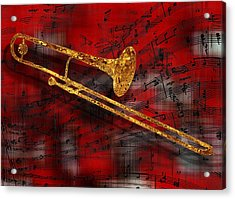 Jazz Trombone Acrylic Print
