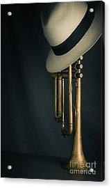 Jazz Trumpet Acrylic Print by Carlos Caetano