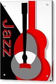 Jazz Vibe Acrylic Print by Christine Fournier