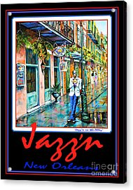 Jazz'n New Orleans Acrylic Print by Dianne Parks
