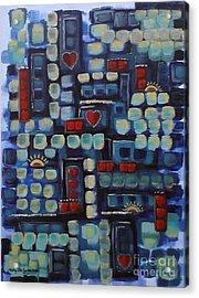 Jazzy Love Acrylic Print