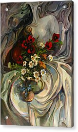 Acrylic Print featuring the painting Jazzy Still-life by Tigran Ghulyan