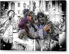 Jazzy Zombie Selfie Acrylic Print by John Haldane