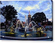 J. C. Nichols Fountain Acrylic Print