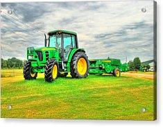 Jd Tractor Acrylic Print