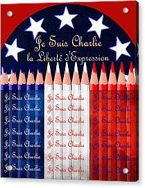 Je Suis Charlie Freedom Of Speech Acrylic Print