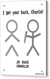Je Suis Charlie Acrylic Print by Glenn Holbrook