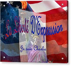 Je Suis Charlie Acrylic Print