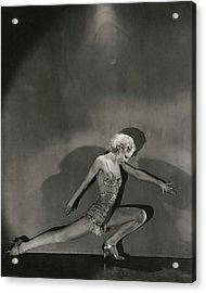 Jean Barry In Evergreen Acrylic Print by George Hoyningen-Huene