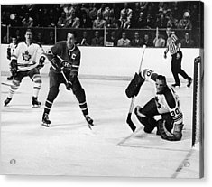 Jean Beliveau Poster Acrylic Print by Gianfranco Weiss
