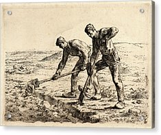 Jean-françois Millet French, 1814 - 1875. The Diggers Les Acrylic Print